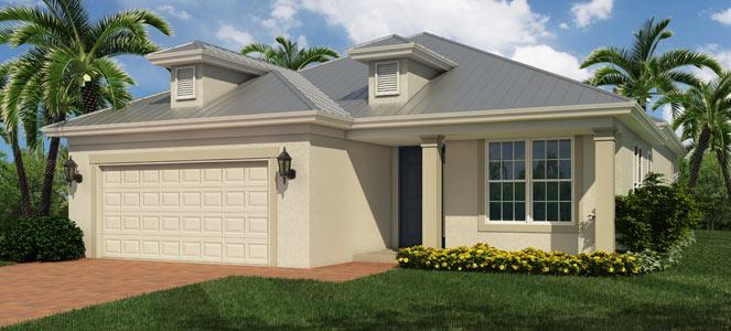 Nassau Model 3 bedroom 2 bath new home in Vero Beach Florida